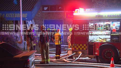 Officers from the Northern Beaches Police Area Command established a crime scene at the factory, but the fire is not being treated as suspicious.