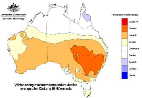 The Bureau of Meteorology has predicted a 50 percent chance of the event effecting Australia.