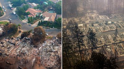 Mass devastation revealed in California wildfire aerial photographs