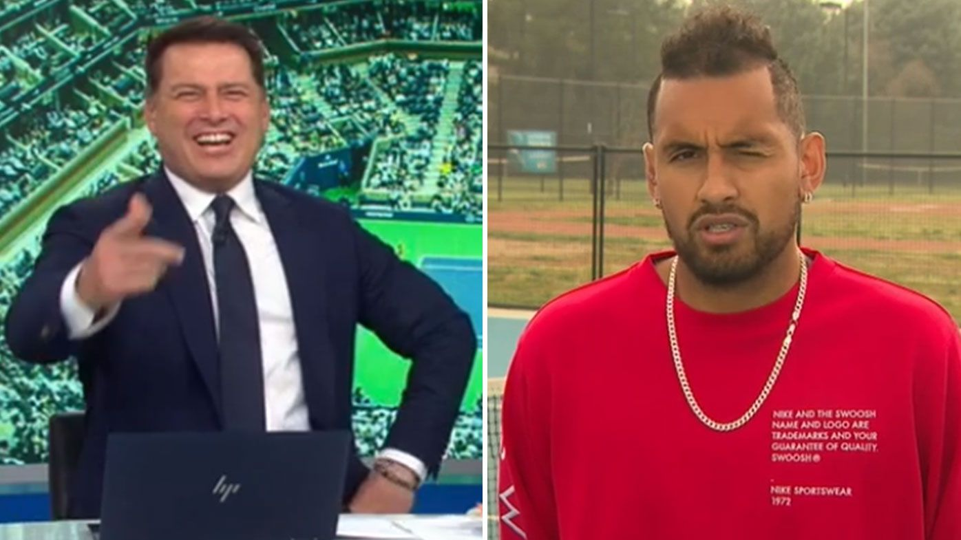 Karl Stefanovic and Nick Kyrgios on the Today Show
