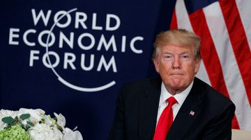 Trump declares the US 'open for business' at global forum