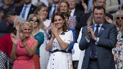 The Duchess of Cambridge attends Day 2 of Wimbledon 2019.