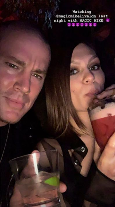 Jessie J, Channing Tatum, selfie, watching, Magic Mike