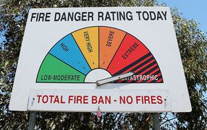 Severe fire danger for Queensland, and damaging winds for Victoria and NSW