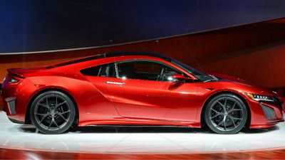 The NSX features two V6 engines and three electric motors. (AAP)