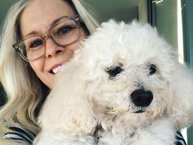 Sami Lukis with her dog