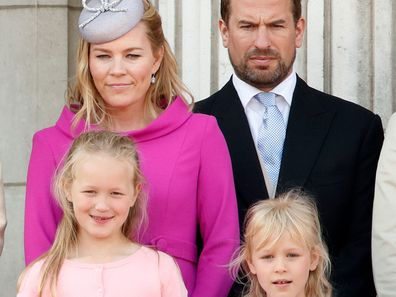 Autumn Phillips Peter Phillips daughters Savannah Isla