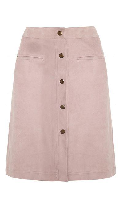 "<a href=""http://www.net-a-porter.com/product/503735/Adam_Lippes/suede-skirt"" target=""_blank"">Suede Skirt, $1,295, Adam Lippes, net-a-porter.com</a>"