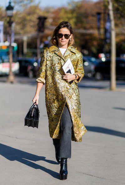 Miroslava Duma outside Chanel, Paris Fashion Week