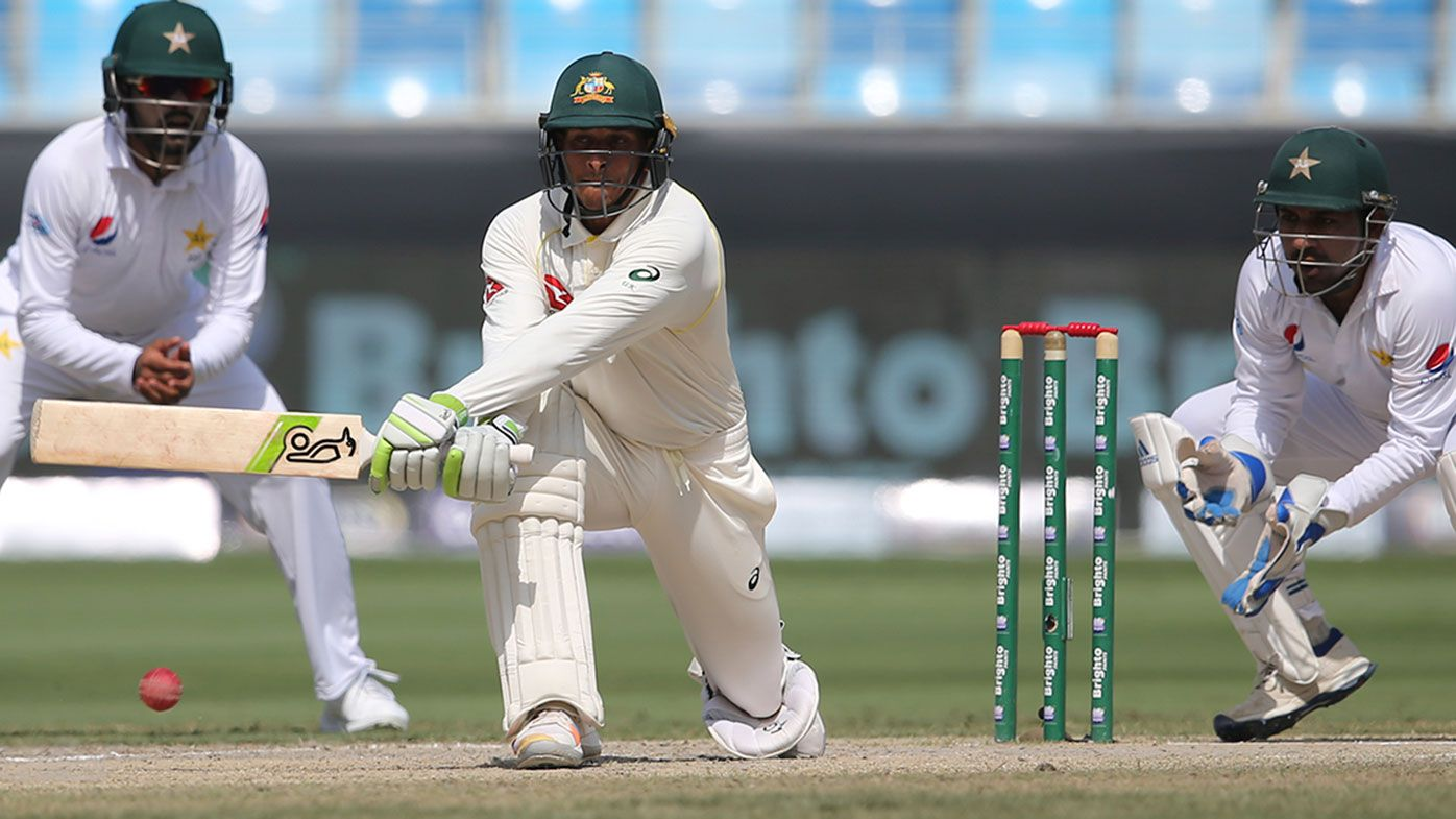Usman Khawaja during his match saving century against Pakistan