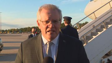 Prime Minister Scott Morrison has landed in the US for a series of meetings culminating in the first face-to-face Quad leaders' summit.