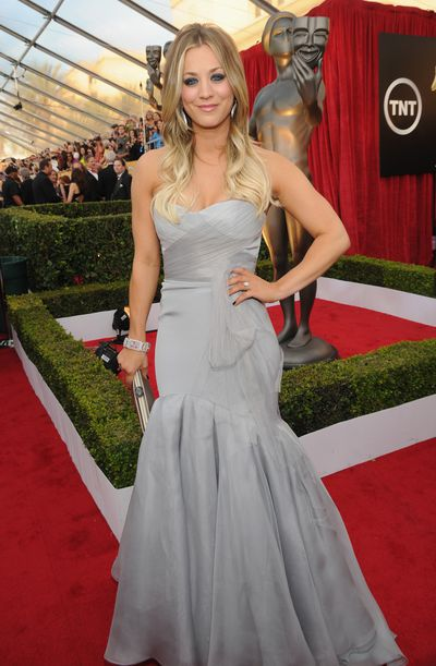 Kaley Cuoco attends 20th Annual Screen Actors Guild Awards at The Shrine Auditorium on January 18, 2014