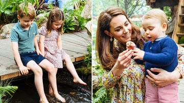 George, Charlotte and Louis roam Duchess-designed garden