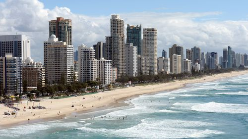 Surfers Paradise and Main beach on the Gold Coast. (AAP)