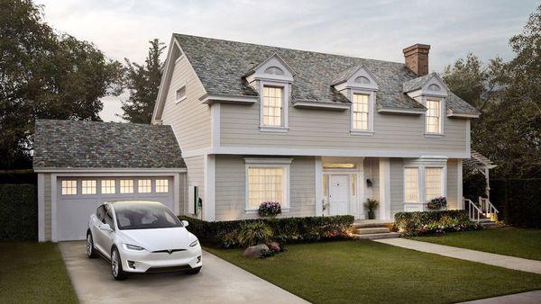Tesla solar roof slate tile