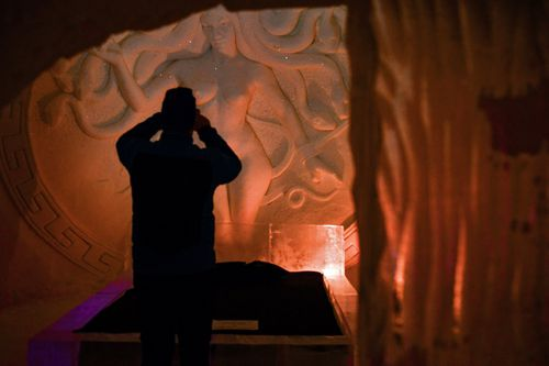 The ice hotel is attracting plenty of show fans. (AAP)