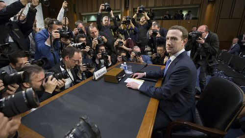 """Facebook chief Mark Zuckerberg admitted Facebook """"didn't do enough"""" on privacy. (AAP)"""