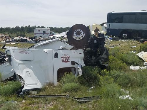 A Greyhound bus was involved in a crash in northwestern New Mexico