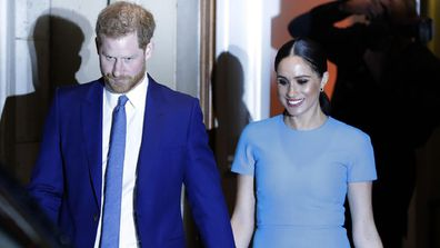 The Duke and Duchess leave the annual Endeavour Fund Awards in London, Thursday, March 5, 2020.