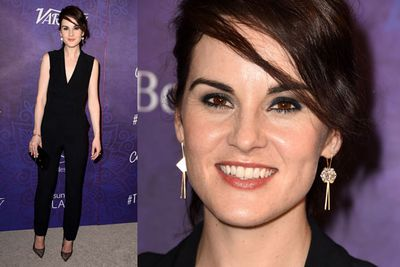 <i>Downton Abbey</i>'s Michelle Dockery was a long way from the English countryside of Downton!