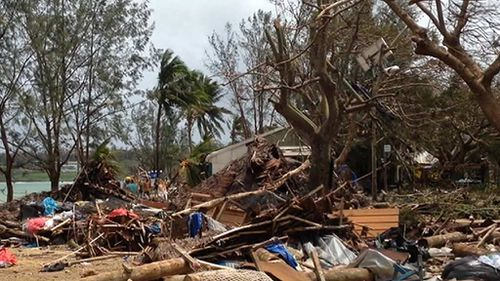 Fears of disease spreading are rife in the aftermath of the disaster. (9NEWS)