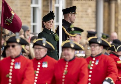 The 1st Battalion Irish Guards St Patrick's Day Parade at Cavalry Barracks on March 17, 2019.
