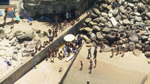 A boy has been injured inn a fall at Yarra Bay Beach in Sydney's south-east.