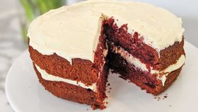 Classic red velvet chocolate cake