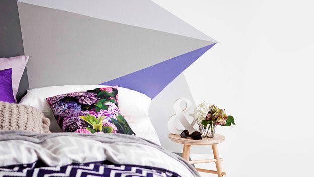 Painted mural bedhead