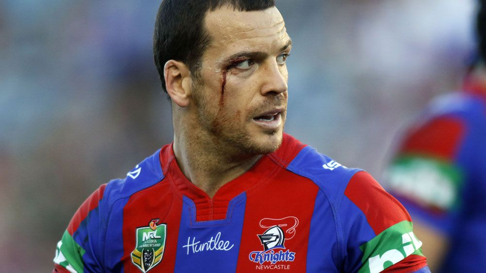 Newcastle Knights player Jarrod Mullen has been banned for four years. (AAP)