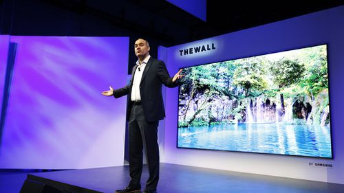 The Wall's MicroLED technology is Samsung's answer to LG's light, thin and efficient, OLED. (Samsung)