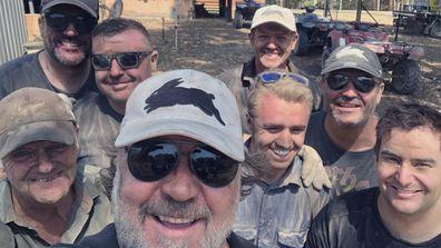 Russell Crowe, bushfire, residents, Nana Glen, NSW