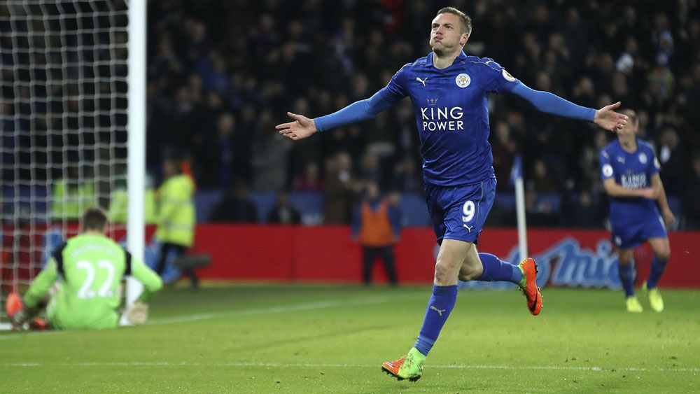 Leicester win first match post-Ranieri