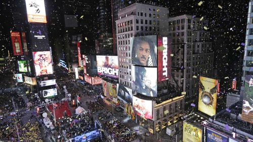 Times Square is one of the best known landmarks in New York.