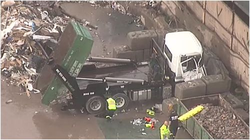 A man has suffered critical injuries at a worksite in Camellia, Western Sydney this morning.
