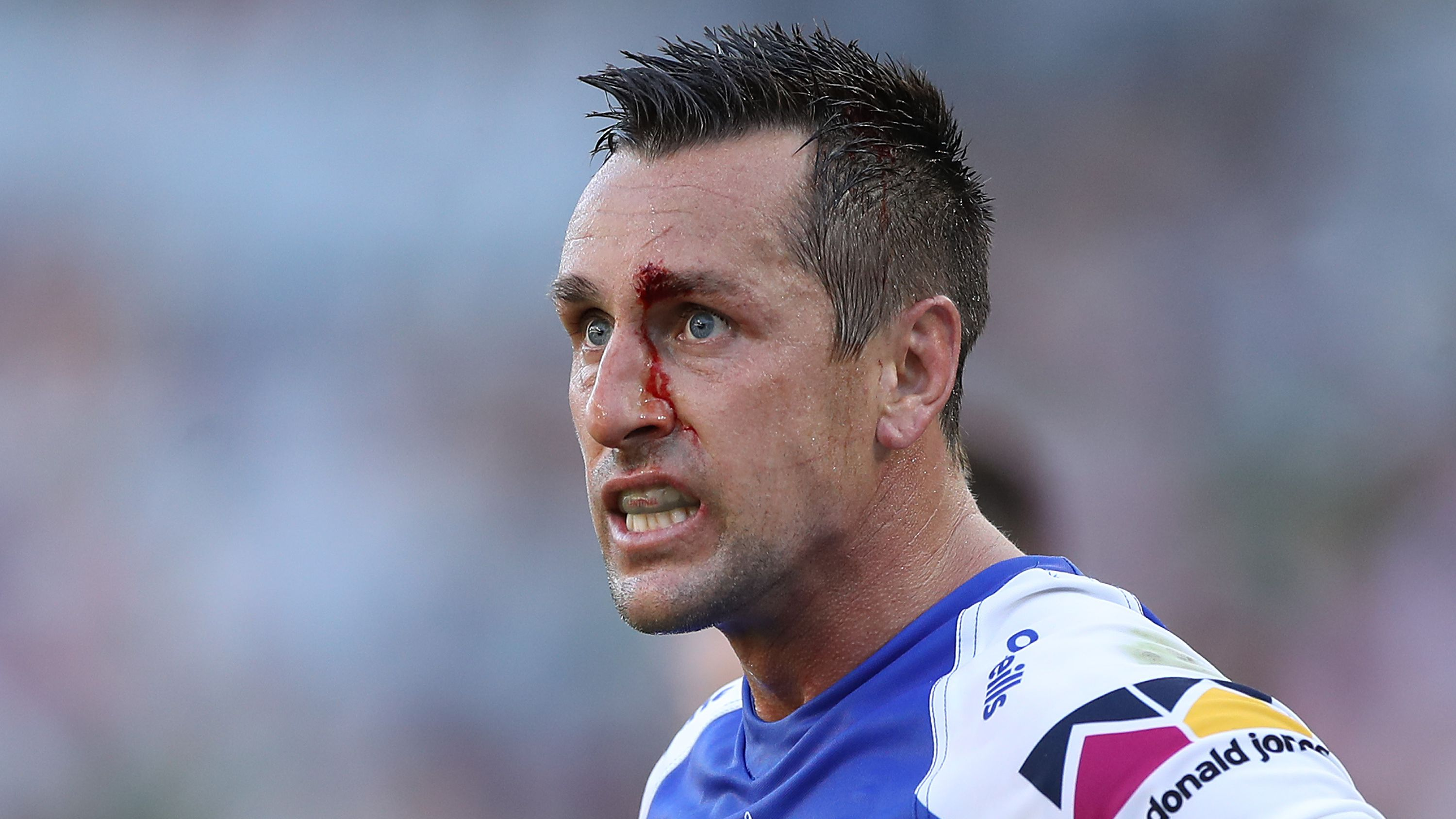 Mitchell Pearce of the Knights during an NRL Elimination Final.