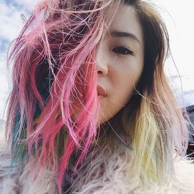 <p>Her hair has been every colour of the rainbow.</p>