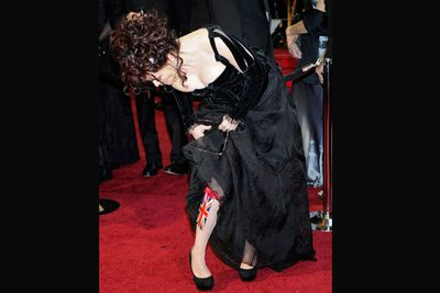 She's a class act. Looking up her skirt, Helena is clearly thinking of England! <br/>