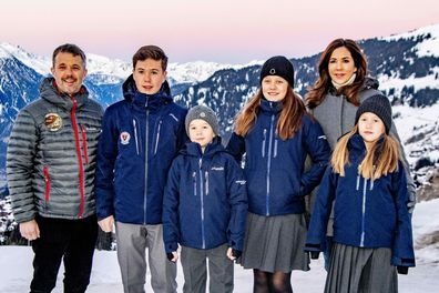 Princess Mary's four children start school in Verbier, Switzerland.