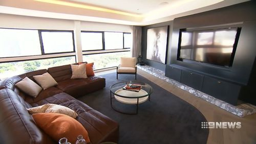 The apartment also features a 565-square-metre living space.