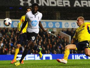 Emmanuel Adebayor scored two goals for Tottenham. (Getty)