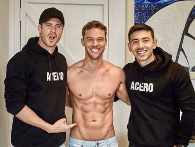 Scott Henderson, Lincoln Lewis, Jono Castano, Men's Health, magazine shoot