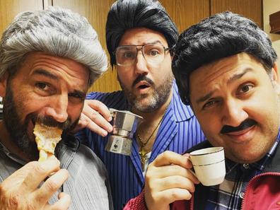 Sooshi Mango the boys in character ethnic comedians