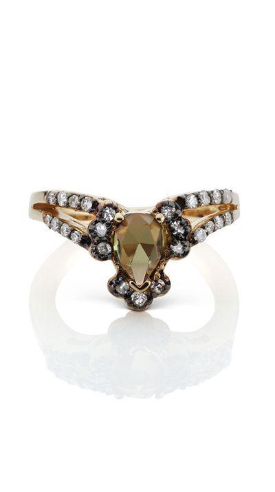 "<a href=""http://www.themaniamania.com/shop/maniamania-fine/ritual-solitaire-ring-5"">Ritual Solitaire Ring, $2,900, Mania Mania</a>"