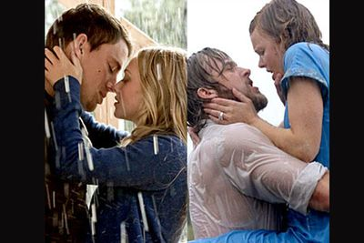 <B>In <I>Dear John</I>...</B> A young couple meet, bond over the building of a house and fall hopelessly in love. She marries someone else, and he disappears for a while. After overcoming life's hardships, they're reunited by the written word before the movie ends.<br/><br/><B>In <I>The Notebook</I>...</B> A young couple meet, bond over the idea of restoring a house and fall hopelessly in love. She marries someone else, and he disappears for a while. After overcoming life's hardships, they're reunited by the written word before the movie ends.