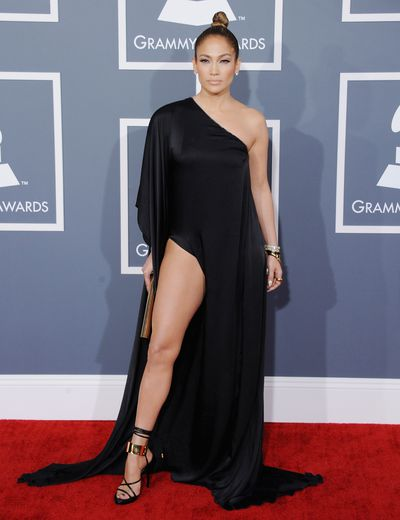 <p><strong>Jennifer Lopez 1</strong></p> <p>Waiting for the thigh, Jennifer Lopez at the 2013 Grammy Awards inAnthony Vaccarello.</p>