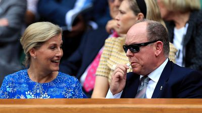 Sophie, Countess of Wessex and Prince Albert of Monaco, Day 9 of Wimbledon 2019