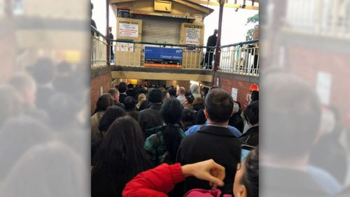 A track fault was responsible for the delays. (9NEWS)