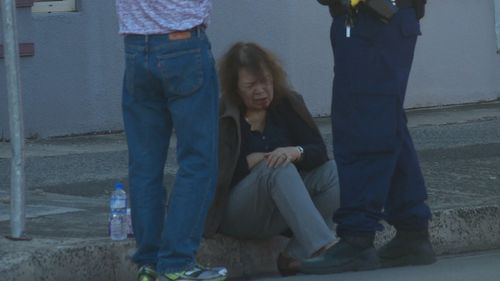 The woman will undergo surgery for a fractured jaw and both wrists. The boys have been arrested. Picture: 9NEWS