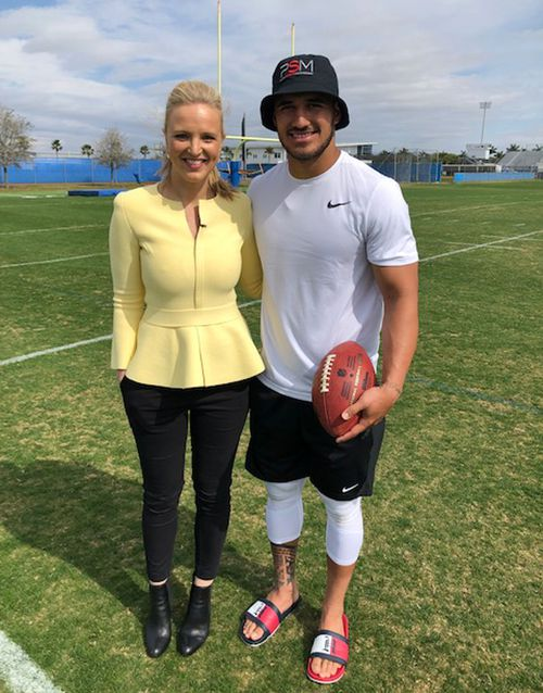 Former Sharks star Holmes, pictured with Alexis Daish, is looking to fulfill a lifetime dream.